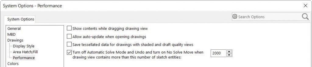 Optimización y configuración de SolidWorks 2